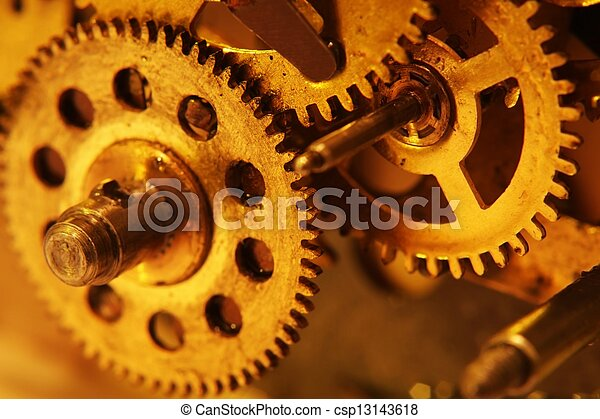 Old gears - csp13143618