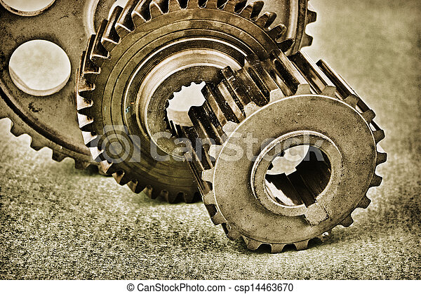 Old gears - csp14463670