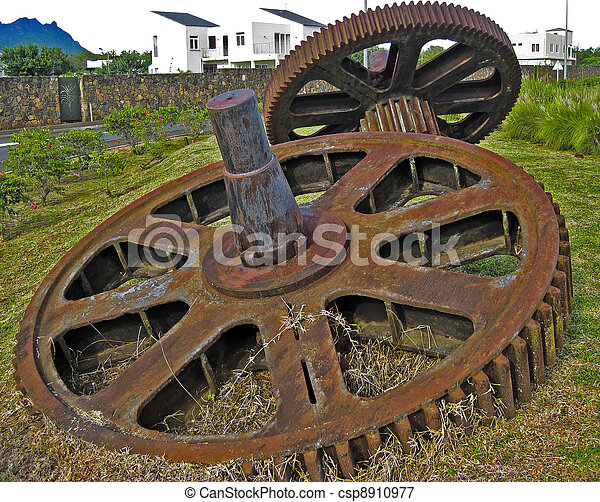 Old gears - csp8910977