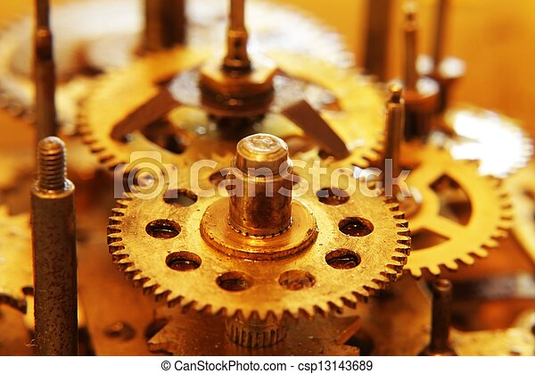 Old gears - csp13143689