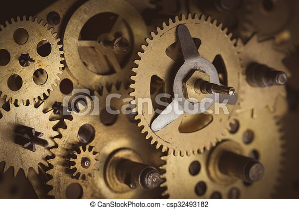 Old gears - csp32493182