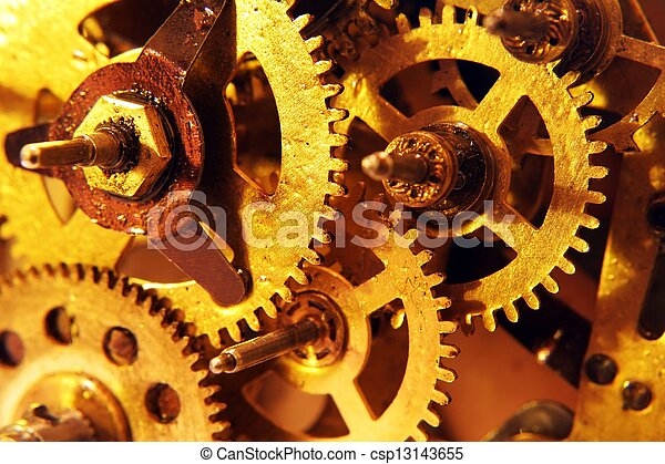 Old gears - csp13143655