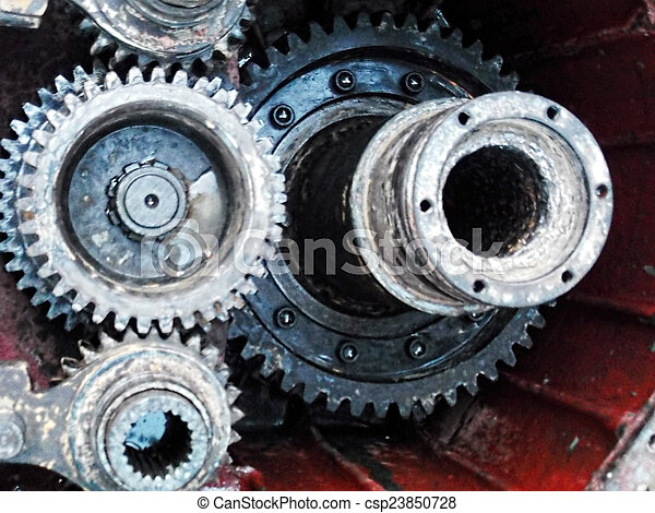 old Gears - csp23850728
