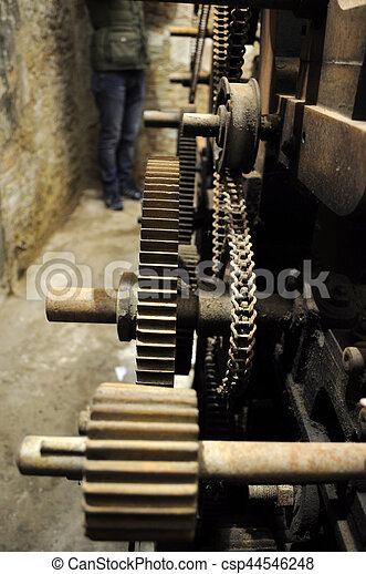 old gears - csp44546248