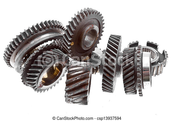 Old gears - csp13937594