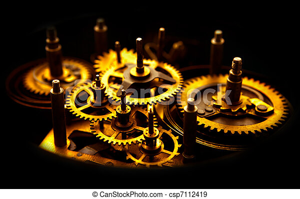 Old Gears - csp7112419