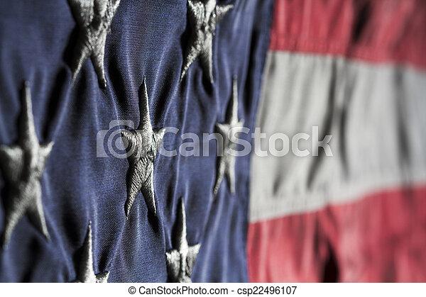 85dbc2d21231 Old glory close up. Horizontal close up shot of american flag ...
