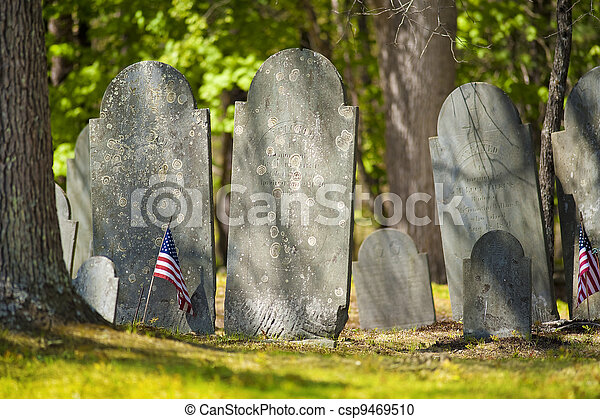Old gravestones - csp9469510