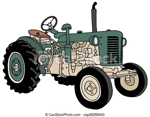 Green Tractor Vector Clipart Royalty Free 2 167 Green Tractor Clip
