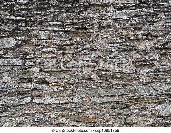 old grey slate wall - csp10951759