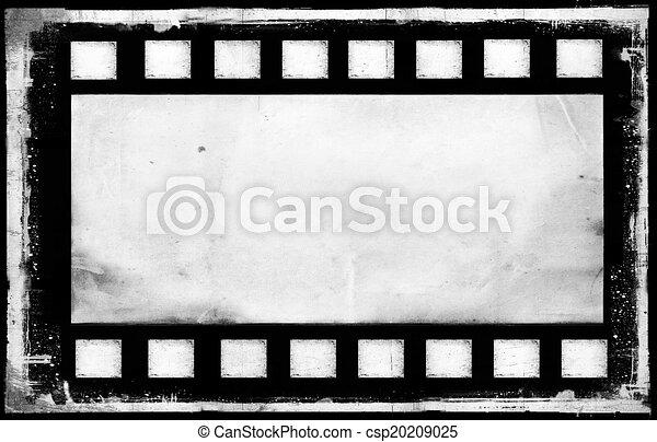 Bank old grunge film strip frame background.