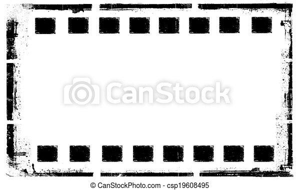 Old grunge film strip frame background.