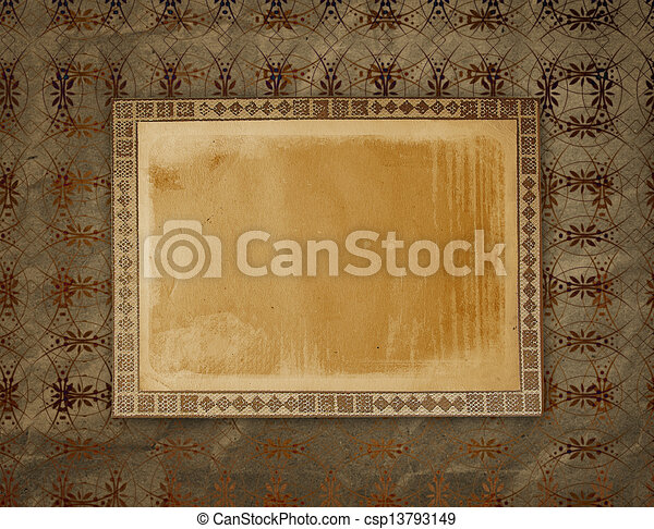 Old grunge frames on the ancient paper background drawing - Search ...