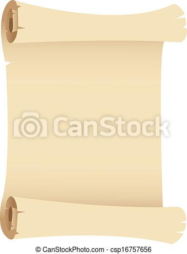 Old Grunge Paper Scroll - csp16757656