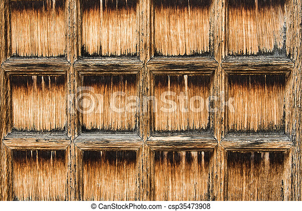 Old grunge wood background - csp35473908