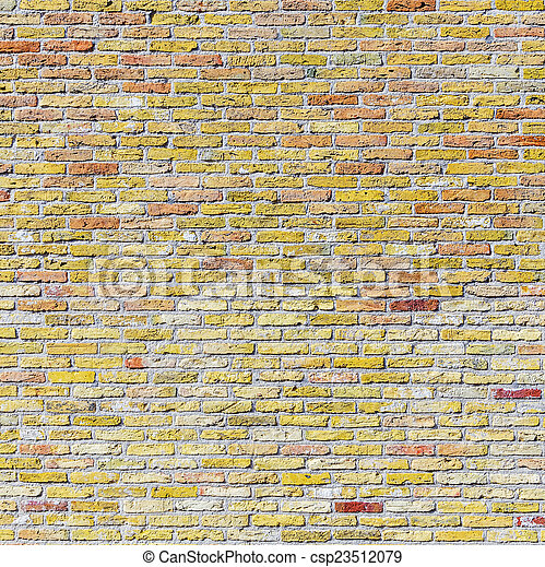 old harmonic brick wall background - csp23512079