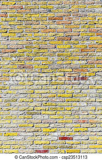 old harmonic brick wall background - csp23513113