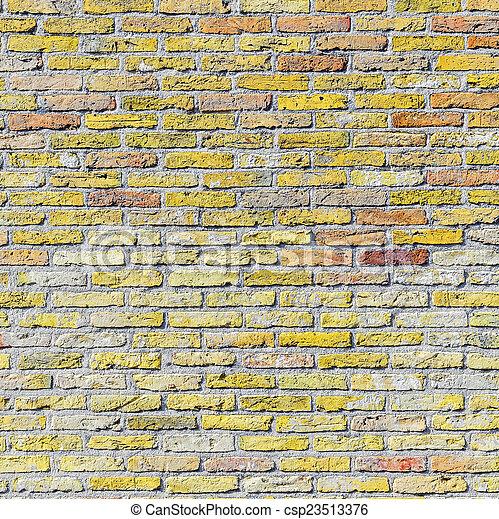 old harmonic brick wall background - csp23513376