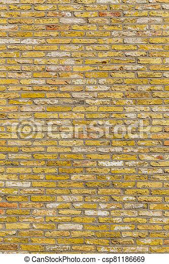 old harmonic brick wall background - csp81186669