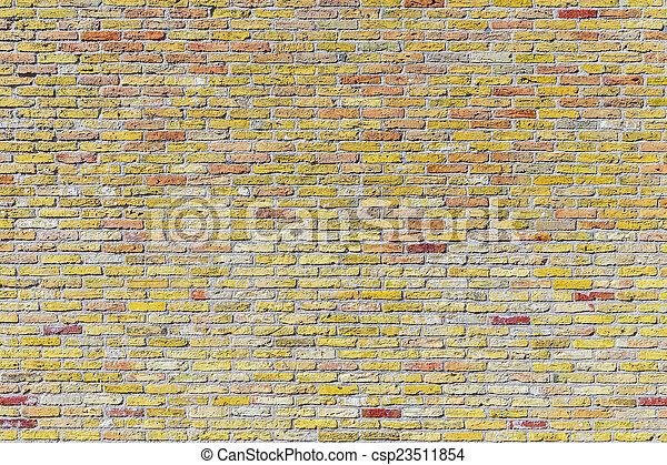 old harmonic brick wall background - csp23511854