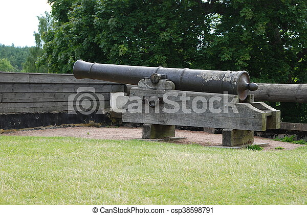 Old historic canon - csp38598791