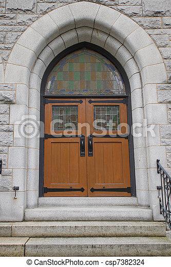 Old Historic Church Doors - csp7382324