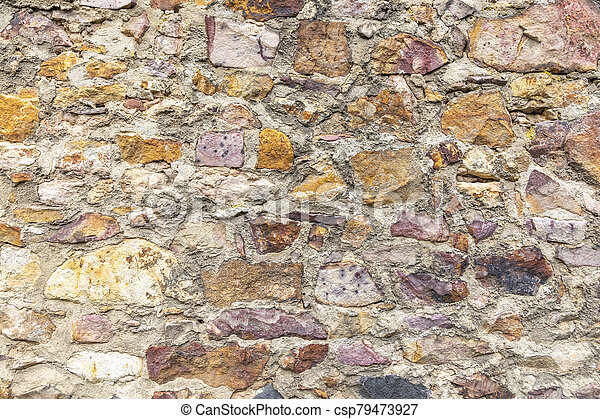 old historic stone wall as harmonic background - csp79473927