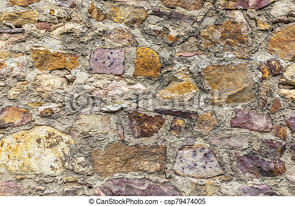 old historic stone wall as harmonic background - csp79474005
