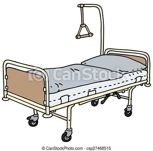 Old Hospital Bed Hand Drawing Of An Metal