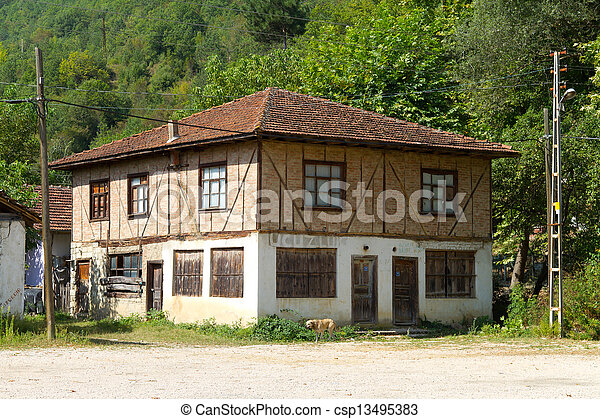 Old house from Black Sea region of Turkey - csp13495383