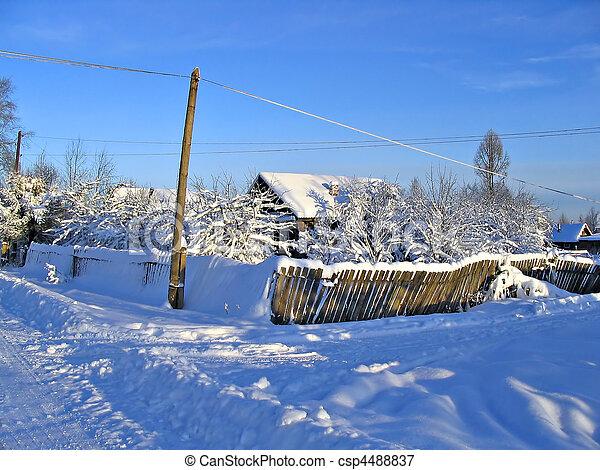 old house in village - csp4488837