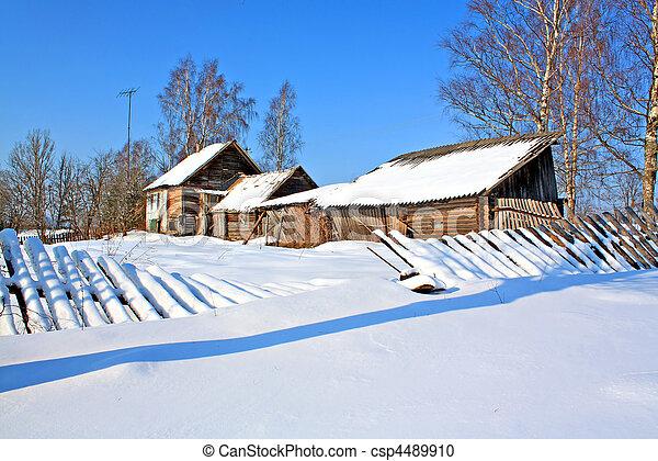 old house in village - csp4489910