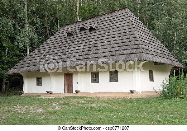 Old House Small Ukrainian Historical House Preceding Century