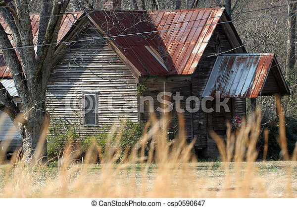 Old House Tin Roof   Csp0590647