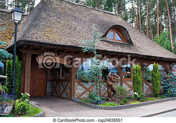 Old house with thatched roof - csp24636551