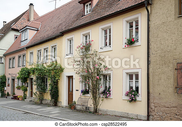 Old houses in Rothenburg - csp28522495