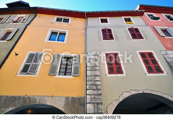 Old houses of Annecy city - csp38409278