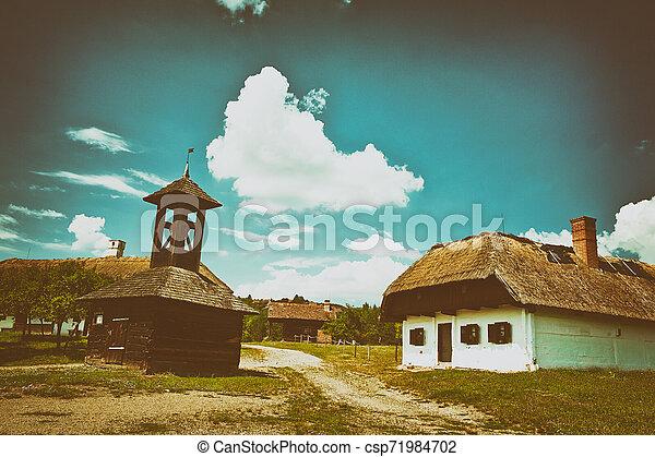 Old hungarian village - csp71984702