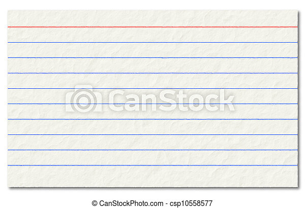 Old index card isolated on a white background. - csp10558577