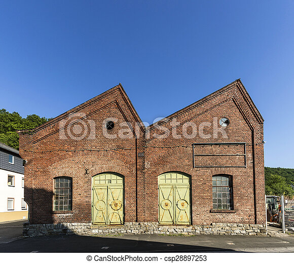 old industrial brick building - csp28897253