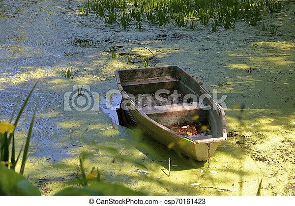 Old iron boat - csp70161423