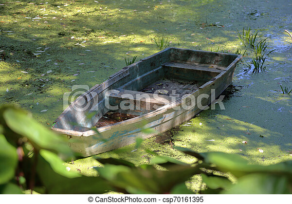 Old iron boat - csp70161395