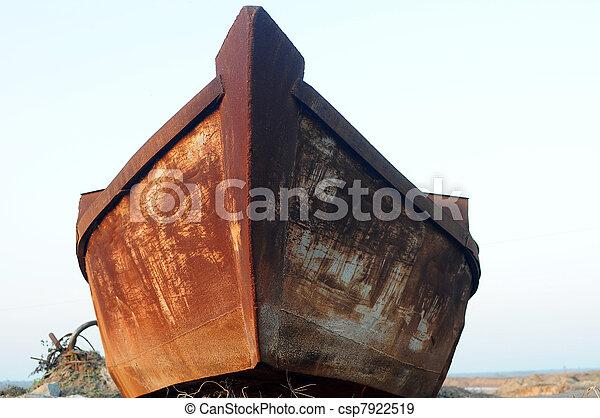 Old iron boat - csp7922519