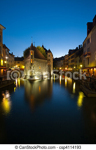 Old Island Prison in Annecy France - csp4114193