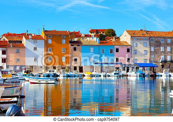 old Istrian town in Novigrad, Croatia. - csp9754097