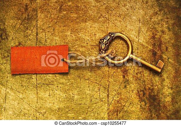 Old key and tag - csp10255477