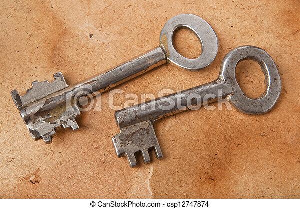 old keys - csp12747874