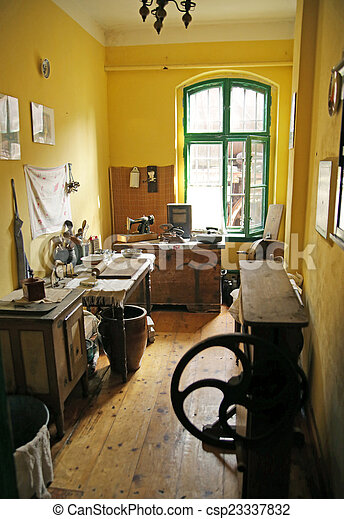 Old kitchen in the antique building - csp23337832