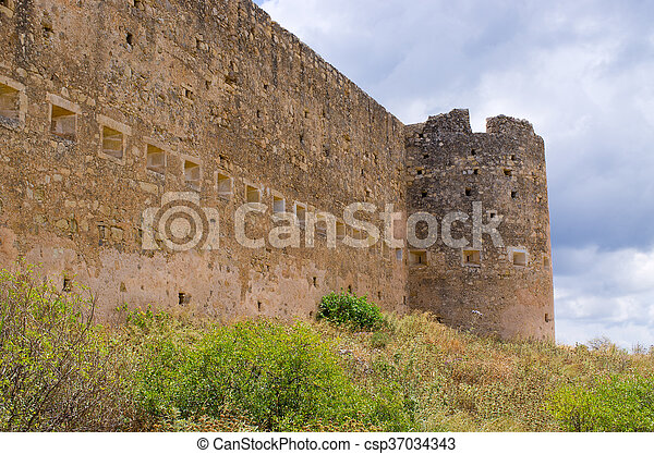 Old Koulos fortess, Crete, Greece - csp37034343