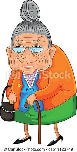 old lady walking slowly but happily eps vector search clip art rh canstockphoto com old lady clipart free old lady clipart images